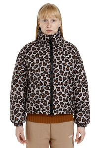 Leopard print short down jacket, Down Jackets MSGM woman