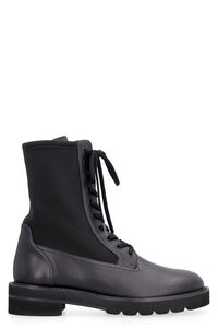 Stretch fabric inserts combat boots, Ankle Boots Stuart Weitzman woman
