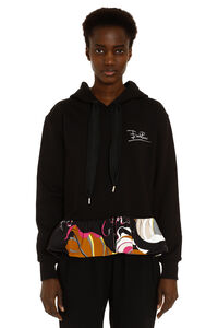 Cotton hoodie with printed ruffled hem, Hoodies Emilio Pucci woman