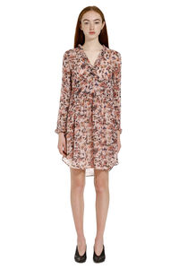 Printed dress with wrinkles, Printed dresses Iro woman