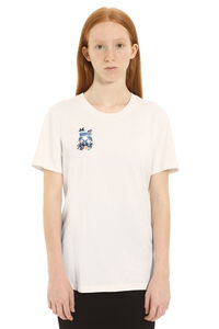 Printed short sleeve cotton T-shirt, T-shirts Off-White woman
