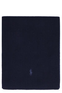 Ribbed knit scarf, Scarves Polo Ralph Lauren man