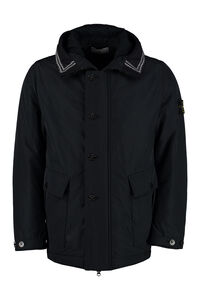 Padded jacket with zip closure and buttons, Down jackets Stone Island man