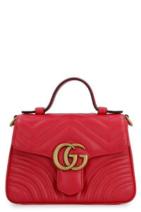 GG Marmont quilted leather handbag, Top handle Gucci woman