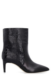 Croco-print leather ankle boots, Ankle Boots Paris Texas woman