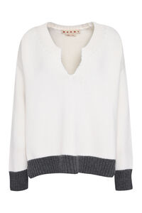 Wool V-neck sweater, V neck sweaters Marni woman