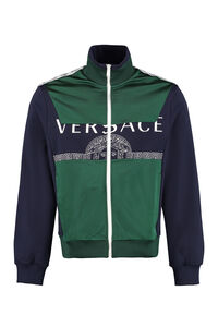 Sporty sweatshirt, Zip through Versace man