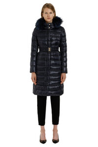 Belted down jacket with removable hood, Down Jackets Herno woman