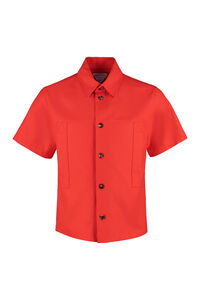 Front buttons cotton shirt, Short sleeve Shirts Bottega Veneta man