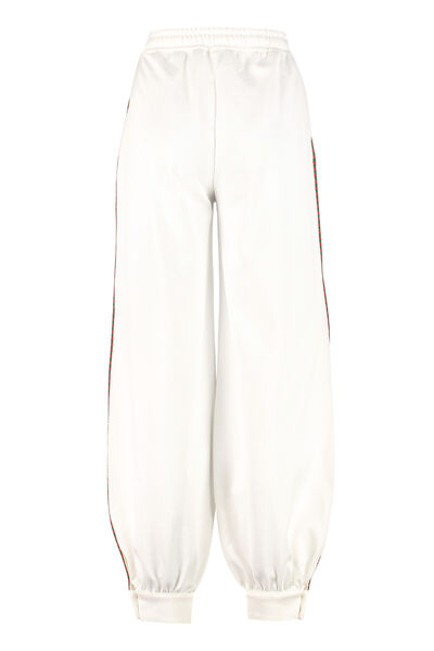 Track-pants with decorative stripes