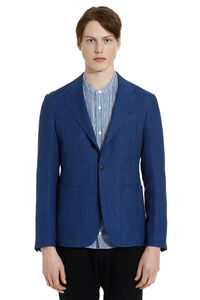 Single-breasted two buttons linen jacket, Single breasted blazers Z Zegna man