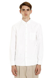 Button-down cotton shirt, Plain Shirts Burberry man