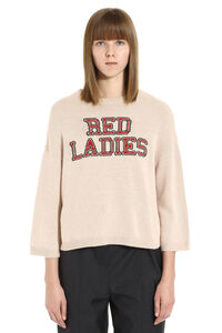 Red Ladies intarsia pullover, Crew neck sweaters Red Valentino woman