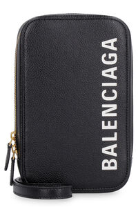 Leather phone holder, Shoulderbag Balenciaga woman