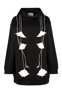 Printed cotton hoodie, Sweatshirts Prada woman