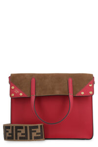 Flip Small leather and suede handbag, Top handle Fendi woman