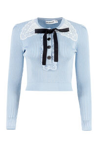 Knitted lurex top, Crew neck sweaters Self-Portrait woman
