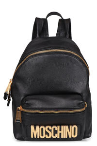 Leather backpack, Backpack Moschino woman