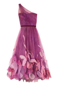 Draped tulle one-shoulder gown, Gowns & Evening dresses Marchesa Notte woman