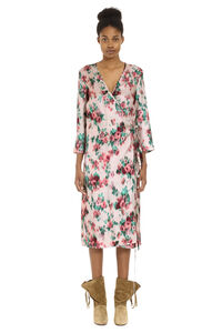 Printed twill wrap-dress, Printed dresses L'Autre Chose woman