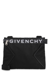 Spectre leather and nylon messenger bag, Messenger bags Givenchy man