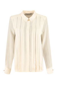 Silk shirt with pleated details, Shirts Alessandra Rich woman