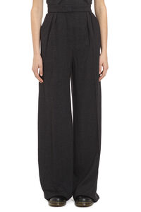 Prince of Wales check trousers, Wide leg pants Max Mara woman