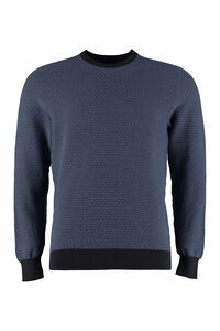 Cotton jacquard sweater, Crew necks sweaters Drumohr man