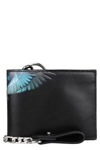 Leather flap-over wallet, Wallets Marcelo Burlon County of Milan man