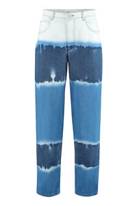 5-pocket loose-fit jeans, Straight Leg Jeans Alberta Ferretti woman