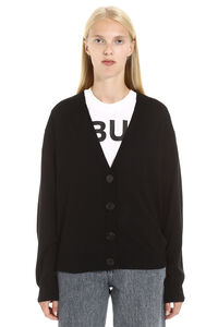 Merino wool cardigan with elbow-patches, Cardigan Burberry woman