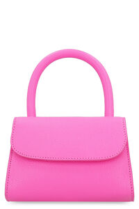 Pebbled leather handbag, Top handle BY FAR woman
