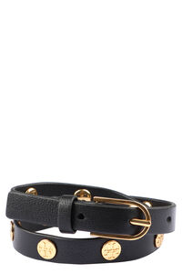 Studded leather double-wrap bracelet, Bracelets Tory Burch woman
