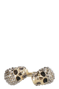 Twin Skull brass ring, Rings Alexander McQueen woman