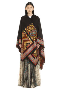Jacquard wool cape, Capes Etro woman