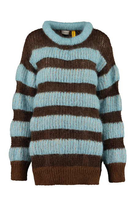 Striped mohair sweater, Crew neck sweaters 2 Moncler 1952 woman