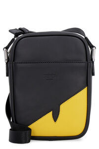 Leather messenger bag, Messenger bags Fendi man