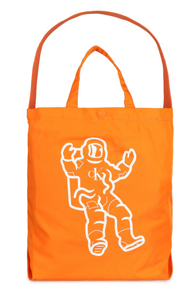 Printed nylon tote bag