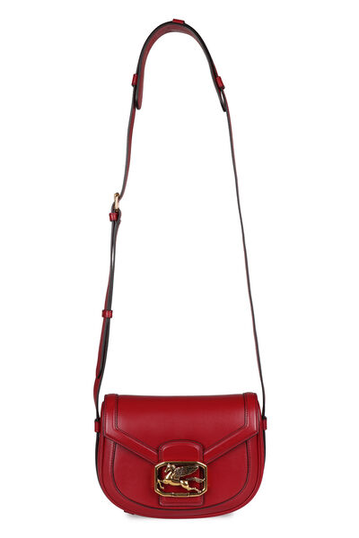 Pegaso leather crossbody bag