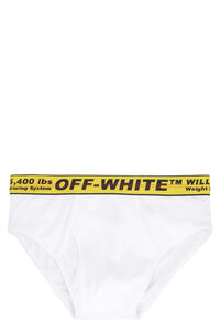 Logoed elastic band cotton briefs, Briefs Off-White man