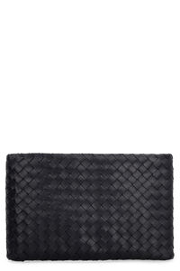 Biletto Intrecciato Nappa flat pouch, Clutch Bottega Veneta woman