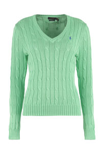 Cable knit pullover, V neck sweaters Polo Ralph Lauren woman