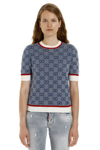 Knitted top, Crew neck sweaters Gucci woman