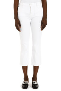 Stretch cotton cropped pants, Cropped pants Love Moschino woman