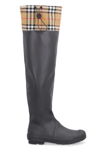 Rubber and fabriv rain boots, Over-the-knee Boots Burberry woman