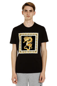 Crew-neck cotton T-shirt, Short sleeve t-shirts Versace man