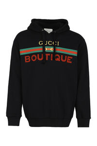 Logo cotton hoodie, Hoodies Gucci man