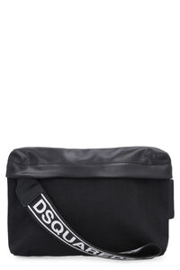 Nylon belt bag with leather details, Beltbag Dsquared2 man