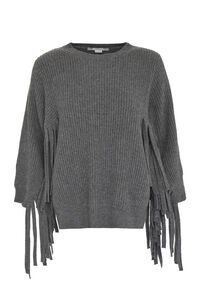 Fringed ribbed sweater, Crew neck sweaters Stella McCartney woman
