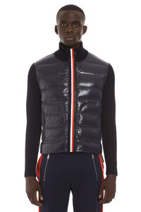Knitted jacket with padded panel, Down jackets Moncler man